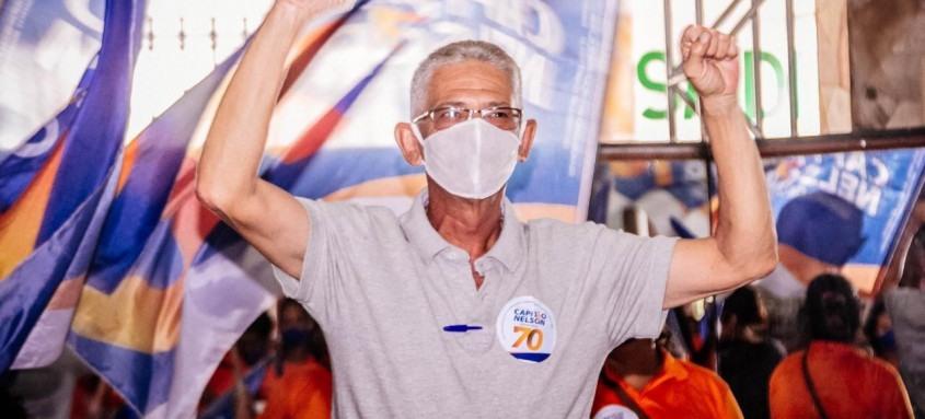 O candidato Capitão Nelson, do Avante, lidera pesquisa de intenção de voto no município de São Gonçalo