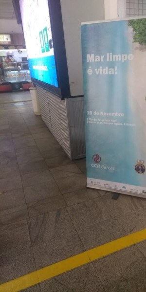 Cartazes ficarão nas estações Araribóia e Praça XV