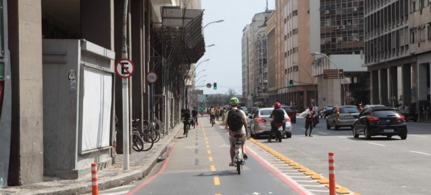 Nos últimos sete anos triplicou a rede cicloviária, de 15 km para 45 km, melhorando a mobilidade