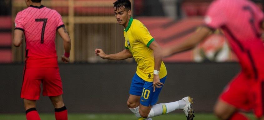 Reinier, ex-Flamengo, fez o terceiro gol da Seleção sub-20, neste sábado, no Egito