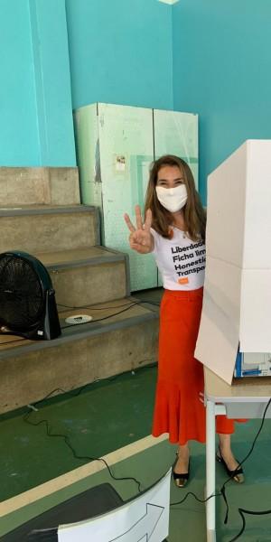 Juliana Benício mostrou confiança em ir para o segundo turno nas eleições municipais