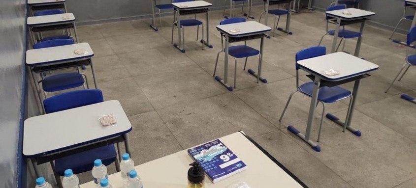 Nessa primeira fase do plano municipal de volta às aulas, serão recebidos alunos da pré-escola e do 1º e do 2º anos do ensino fundamental