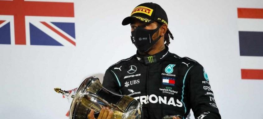 Lewis Hamilton buscará no próximo domingo, em Abu Dhabi, sua 12ª vitória na temporada
