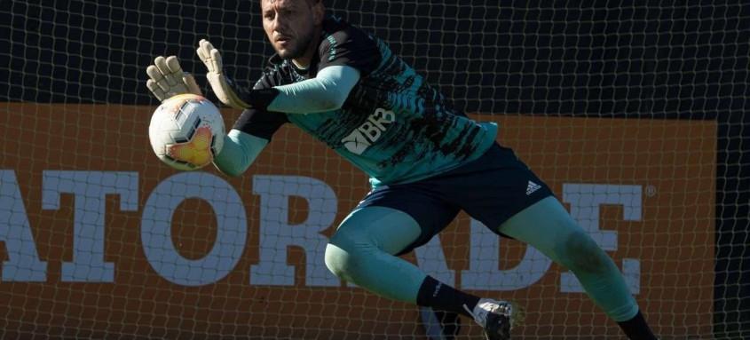 Pelo Flamengo, Diego Alves conquistou vários títulos entre eles Brasileiro e Libertadores
