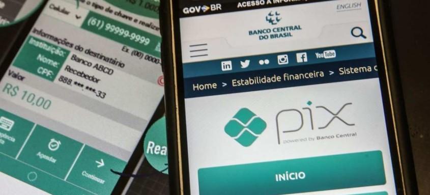 Pix é o meio de pagamento criado pelo Banco Central (BC) em que os recursos são transferidos entre contas em poucos segundos, a qualquer hora ou dia