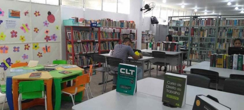 A Biblioteca Genebaldo Rosa funciona de segunda a sexta, das 9h às 17h