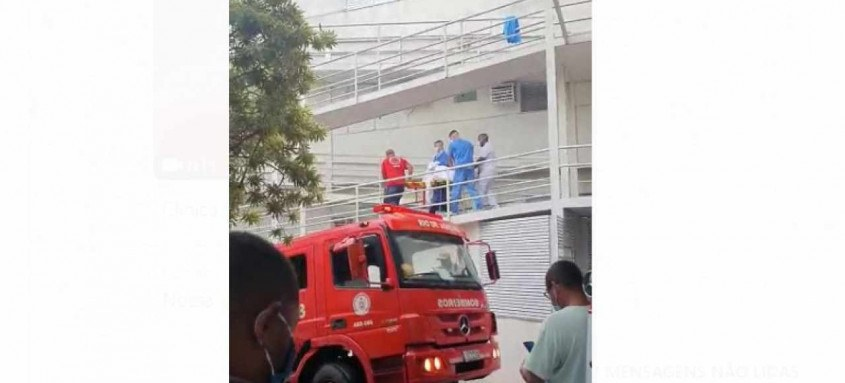 Fogo atingiu o Hospital e Clínica São Gonçalo na tarde de quinta-feira. Uma pessoa morreu