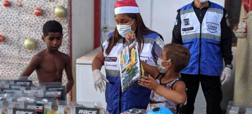 Evento também contou com a presença do Papai Noel Presente