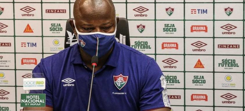 Técnico Marcão segue sem vencer no comando do Fluminense. Em três jogos foram duas derrotas e um empate