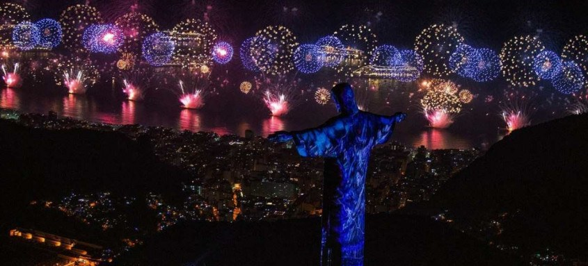 Queima de fogos na praia de Copacabana, Réveillon Rio 2019