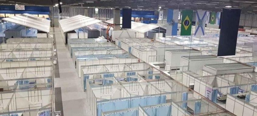 O Hospital de Campanha do Riocentro foi aberto pela prefeitura do Rio de Janeiro no dia 1º de maio de 2020