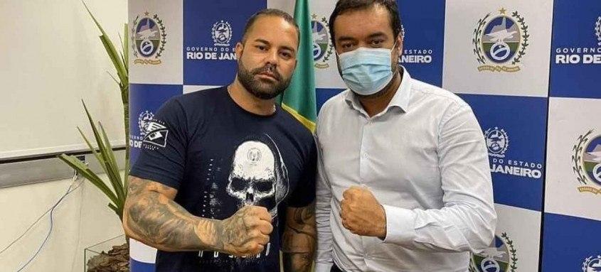 Deputado Felipe Poubel e governador Claudio Castro