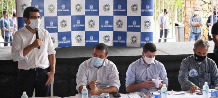 Em Petrópolis produtores receberam cheques num total de RS1 milhão disponibilizados somente para o setor.