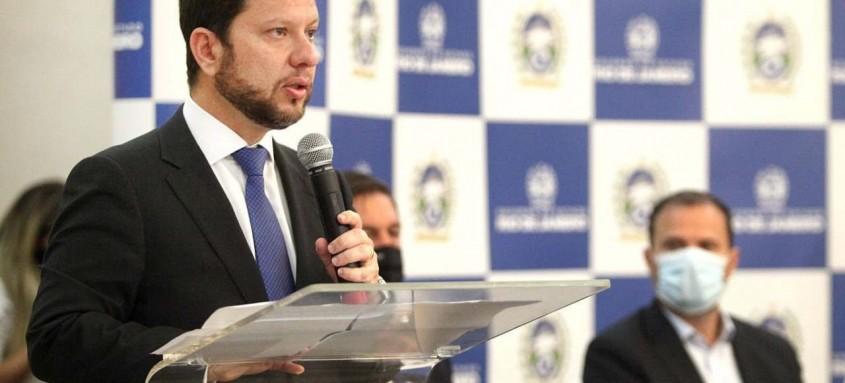 O secretário de Estado da Casa Civil, Nicola Miccione, representou o governador em exercício Cláudio Castro durante o evento.