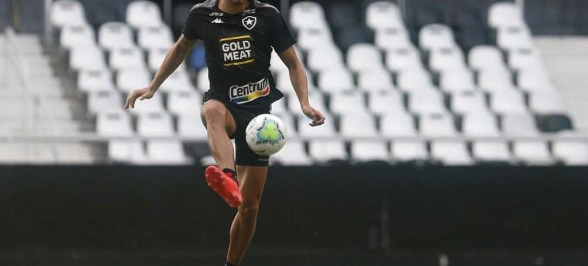 Pedro Raul tem a missão de fazer os gols do Botafogo hoje no Nilton Santos