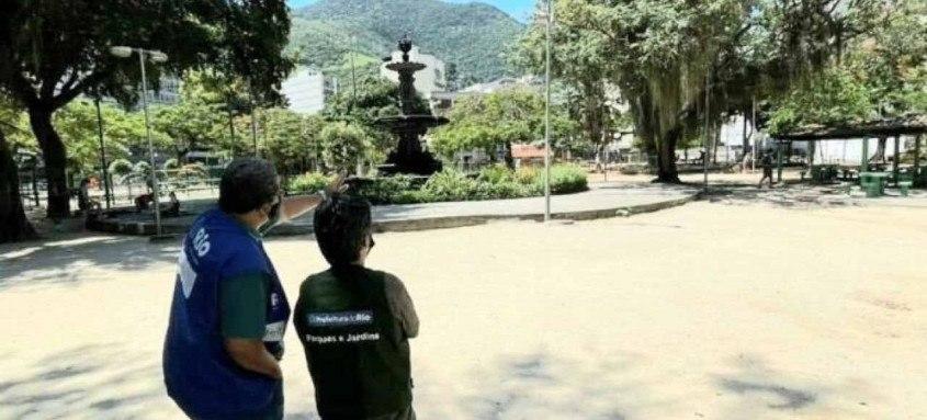 Mutirões nos dois locais são organizados pela Fundação Parques e Jardins e coordenados pelas Subprefeituras da Grande Tijuca e do Centro do Rio