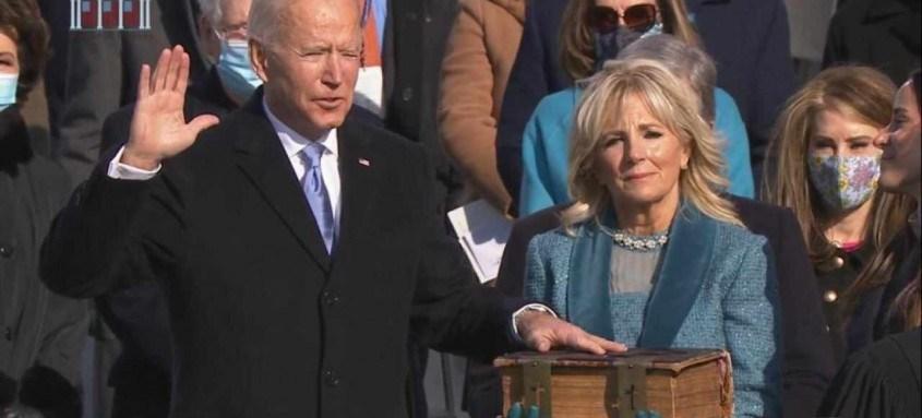 Diferente de seu antecessor Donald Trump, Joe Biden adotou um tom conciliador em seu discurso de posse