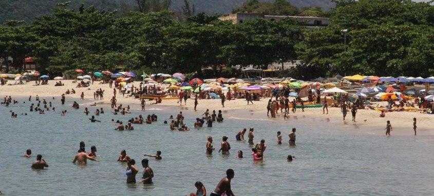 Na Praia de Itaipu, a semana foi de grande movimentação, em especial no dia 20, dia de São Sebastião e feriado no município do Rio de Janeiro