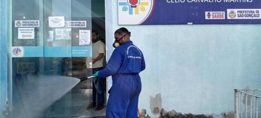 A higienização vai atender todas as 116 unidades