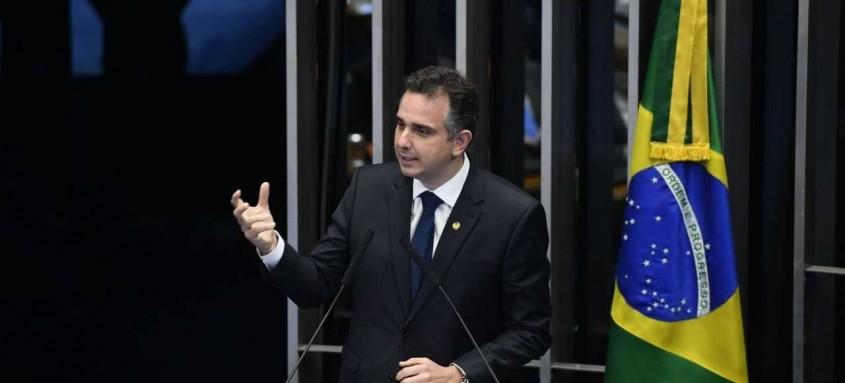 Apoiado pelo presidente Jair Bolsonaro, Rodrigo Pacheco foi eleito, ontem, presidente do Senado Federal