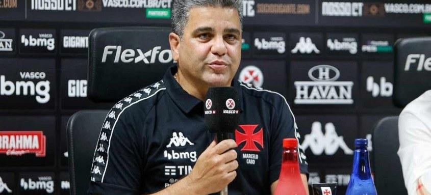 Carioca, Marcelo Cabo é ex-jogador de futsal do próprio Vasco. Em apresentação, técnico prometeu time ofensivo
