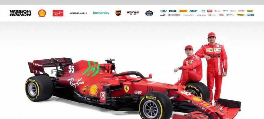 O monegasco Charles Leclerc e o espanhol Carlos Sainz apresentaram o SF21