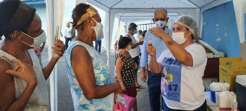 Desde o início da campanha, a cidade vacinou com a primeira dose 91.803 pessoas