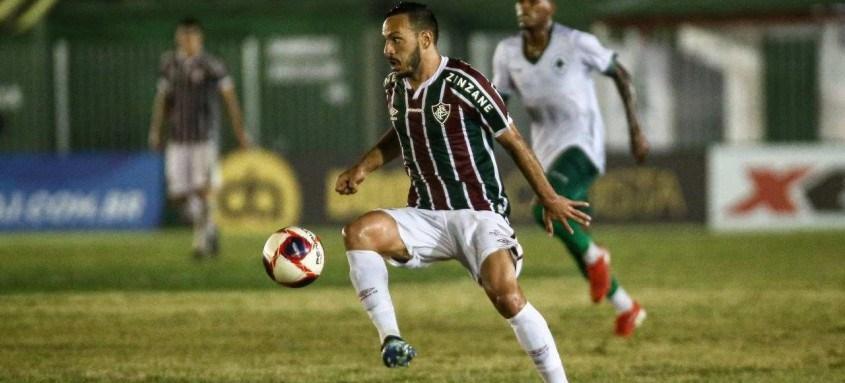 Yago Felipe marcou o primeiro gol da vitória tricolor, ontem, em Bacaxá