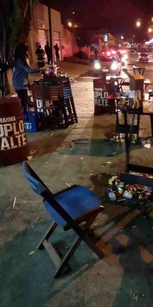 Bar no Jardim Alcântara foi fechado pela fiscalização