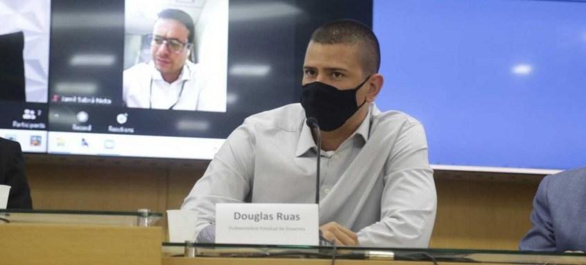 Secretário Douglas Ruas durante anúncio de BRS para SG