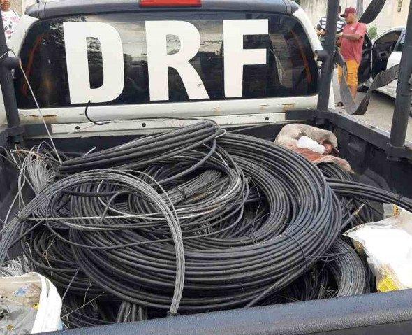 Polícia Civil recupera mais de dois quilômetros de cabo de fibra ótica
