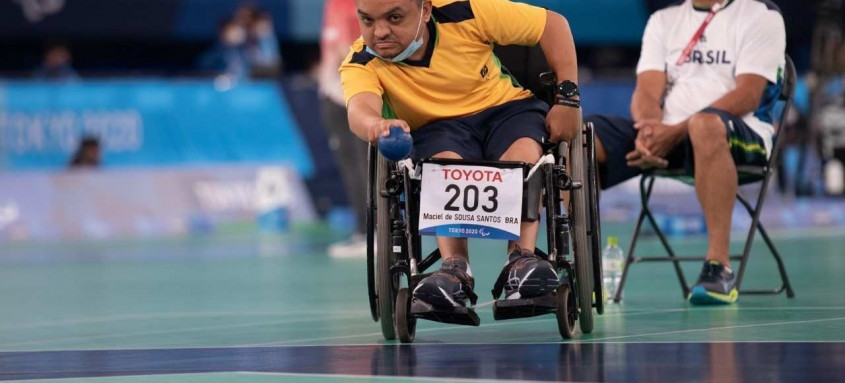 Maciel Santos conquistou sua terceira medalha paralímpica na bocha com o bronze nesta terça-feira