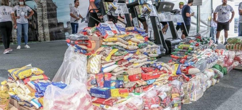 Com 10 dias de evento, foram arrecadados mais de 3 toneladas em alimentos